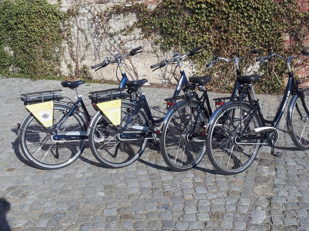Bild vom Verleih der Fahrräder